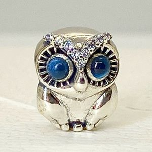 New Authentic Pandora Charm Sparkling Owl
